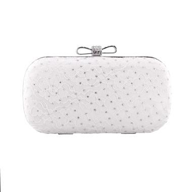 Liz Rene Handbag Susan - B778 White Satin