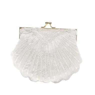 Liz Rene Handbag Victoria - B847 White Beaded
