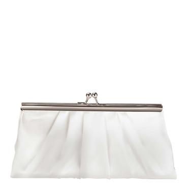 Liz Rene Handbag Avery - B866 White Satin