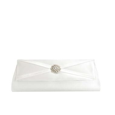 Liz Rene Handbag Carson - B877 White Satin