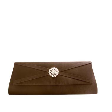 Liz Rene Handbag Carson - B887 Brown Satin