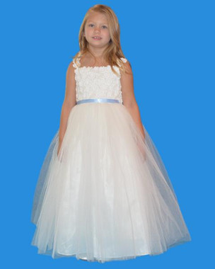 Rosebud Fashions Flower Girl Dresses - Style 5131 - Satin,  Lace, and Tulle
