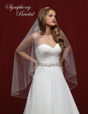 Symphony Bridal Wedding Veil - 6832VL - Embellished Veil