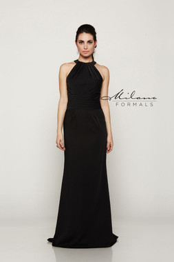 Milano Formals E2082 - Stretch Satin - Special Occasion Dress