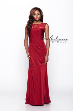 Milano Formals E2079 - Stretch Satin - Special Occasion Dress