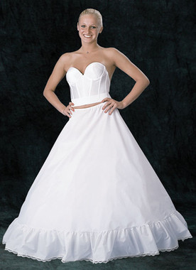 "Plus Size Extra Full Bouffant DrawString Petticoat - Fits up to 52"" Waist"
