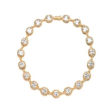 Mariells Luxurious Cushion Cut CZ Necklace 4069N-G