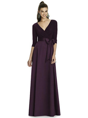 Alfred Sung Dress Style D736 - Aubergine- Mikado - In Stock Dress