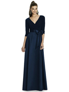 Alfred Sung Dress Style D736 - Midnight - Mikado - In Stock Dress