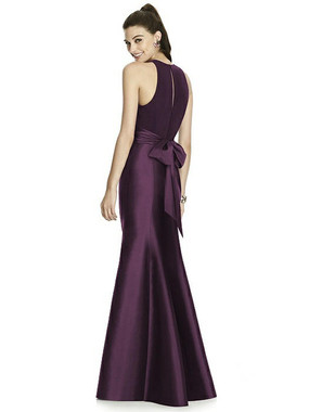 Alfred Sung Dress Style D737 - Aubergine- Mikado - In Stock Dress