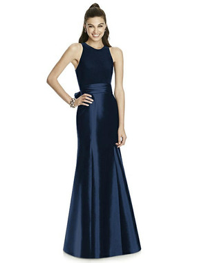 Alfred Sung Dress Style D737 - Midnight - Mikado - In Stock Dress