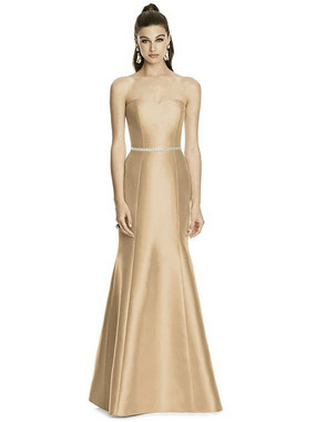 Alfred Sung Dress Style D742 - Golden - Sateen Twill - In Stock Dress