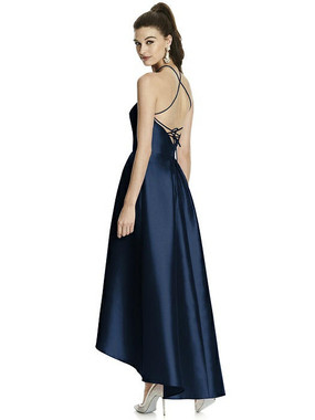 Alfred Sung Dress Style D741 - Midnight - Sateen Twill - In Stock Dress