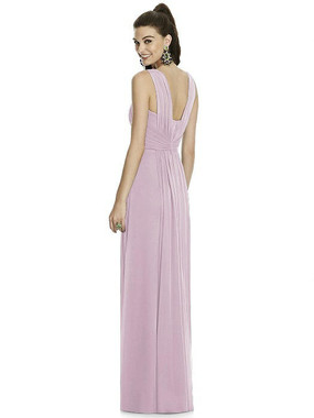 Alfred Sung Dress Style D740 - Suede Rose - Chiffon Knit - In Stock Dress
