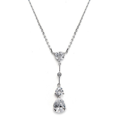 Mariells Cubic Zirconia Multi Shaped Dangle Necklace 679N