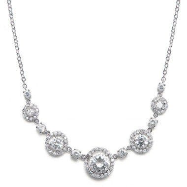 Mariells CZ Circles Bridal Necklace 347N