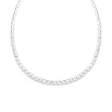 Mariells Single Strand 4mm Pearl Wedding Necklace 228N