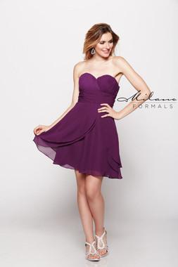 Milano Formals E1546 - Chiffon - Special Occasion Dress
