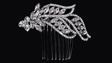 En Vogue Bridal Comb HC1731 - Rhinestone Accents
