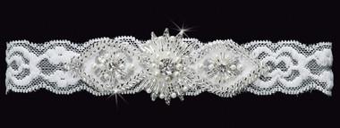 En Vogue Bridal Garter GR1488 -  Stretch Lace Garter