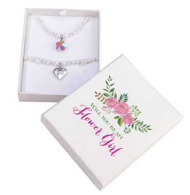 Flower Girl Necklace and Bracelet Set  JL654 2 - Lillian Rose