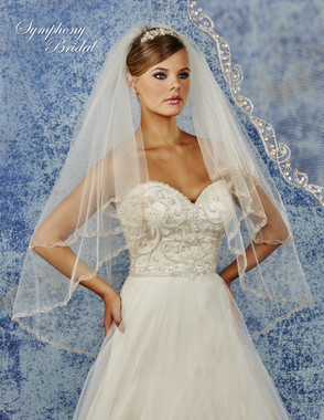 Symphony Bridal Wedding Veil - 6900VL - Embellished Veil
