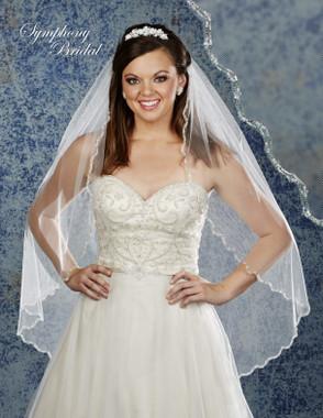 Symphony Bridal Wedding Veil - 6901VL - Embellished Veil
