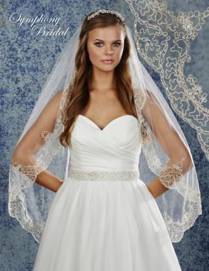 Symphony Bridal Wedding Veil - 6903VL - Embellished Veil