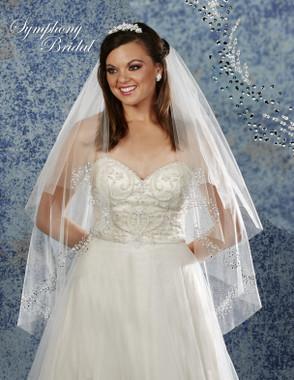 Symphony Bridal Wedding Veil - 6902VL - Embellished Veil
