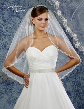Symphony Bridal Wedding Veil - 6905VL - Embellished Veil