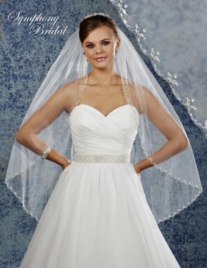 Symphony Bridal Wedding Veil - 6906VL - Embellished Veil