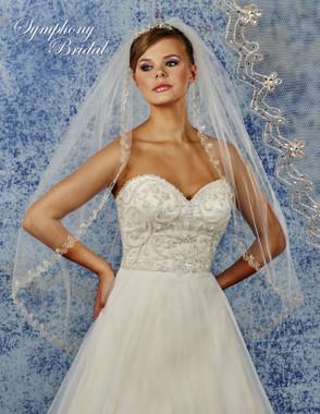 Symphony Bridal Wedding Veil - 6907VL - Embellished Veil