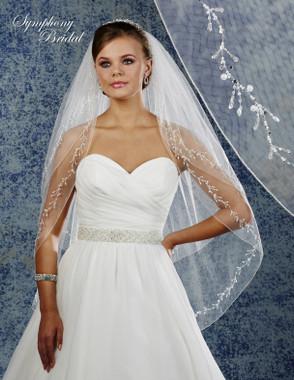 Symphony Bridal Wedding Veil - 6908VL - Embellished Veil