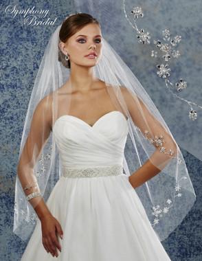 Symphony Bridal Wedding Veil - 6911VL - Embellished Veil