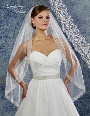 Symphony Bridal Wedding Veil - 6912VL - Embellished Veil