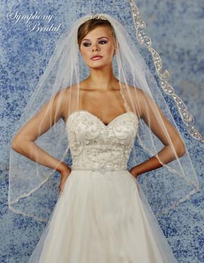 Symphony Bridal Wedding Veil - 6913VL - Embellished Veil