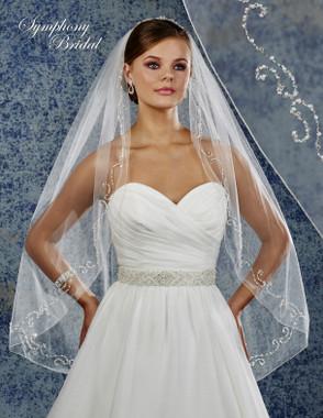 Symphony Bridal Wedding Veil - 6914VL - Embellished Veil