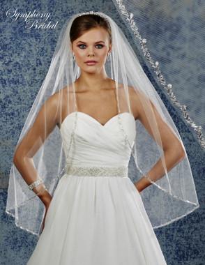 Symphony Bridal Wedding Veil - 6915VL - Embellished Veil