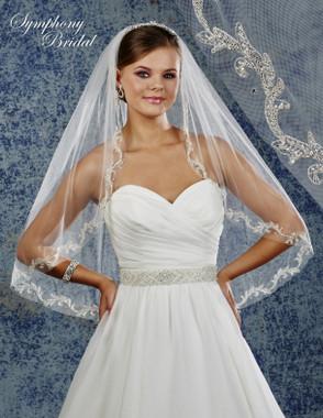 Symphony Bridal Wedding Veil - 6916VL - Embellished Veil