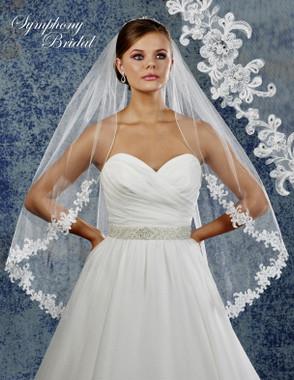 Symphony Bridal Wedding Veil - 6917VL - Lace Edge