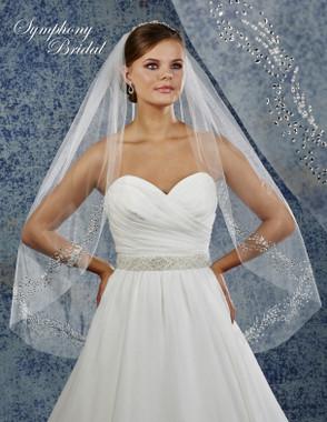 Symphony Bridal Wedding Veil - 6808VL - Embellished Veil