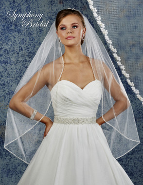 Symphony Bridal Wedding Veil - 6919VL - Embellished Veil
