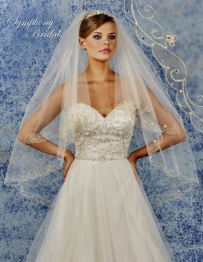 Symphony Bridal Wedding Veil - 6920VL - Embellished Veil