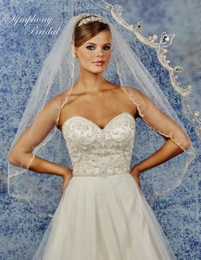 Symphony Bridal Wedding Veil - 6921VL - Embellished Veil