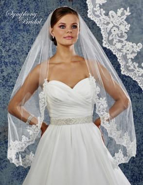 Symphony Bridal Wedding Veil - 6923VL - Lace Edge
