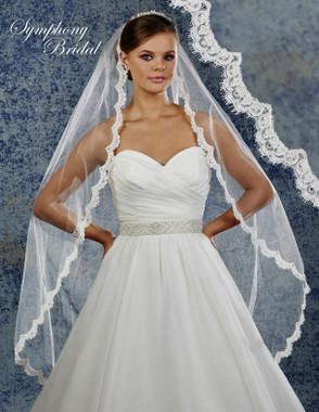 Symphony Bridal Wedding Veil - 6925VL - Lace Edge