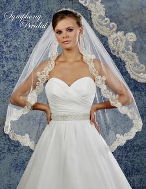 Symphony Bridal Wedding Veil - 6926VL - Lace Edge