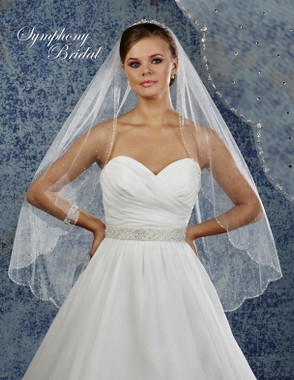Symphony Bridal Wedding Veil - 6927VL - Scallop Beaded Edge