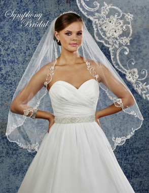 Symphony Bridal Wedding Veil - 6928VL - Embellished Veil