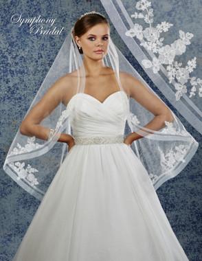 Symphony Bridal Wedding Veil - 6929VL - Lace Edge
